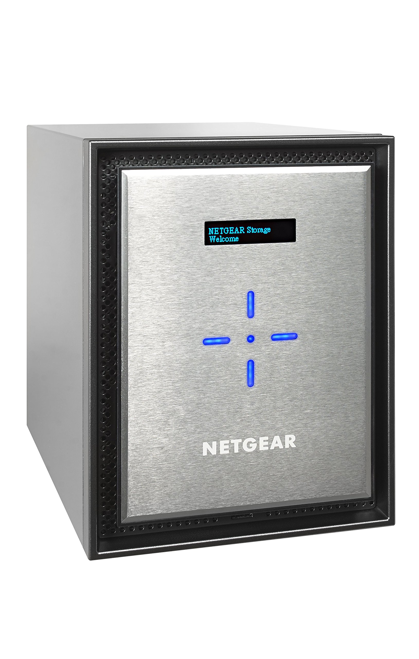 NETGEAR ReadyNAS RN526X00 6 Bay Diskless Premium Performance NAS, 60TB Capacity Network Attached Storage, Intel 2.2GHz Dual Core Processor, 4GB RAM by NETGEAR