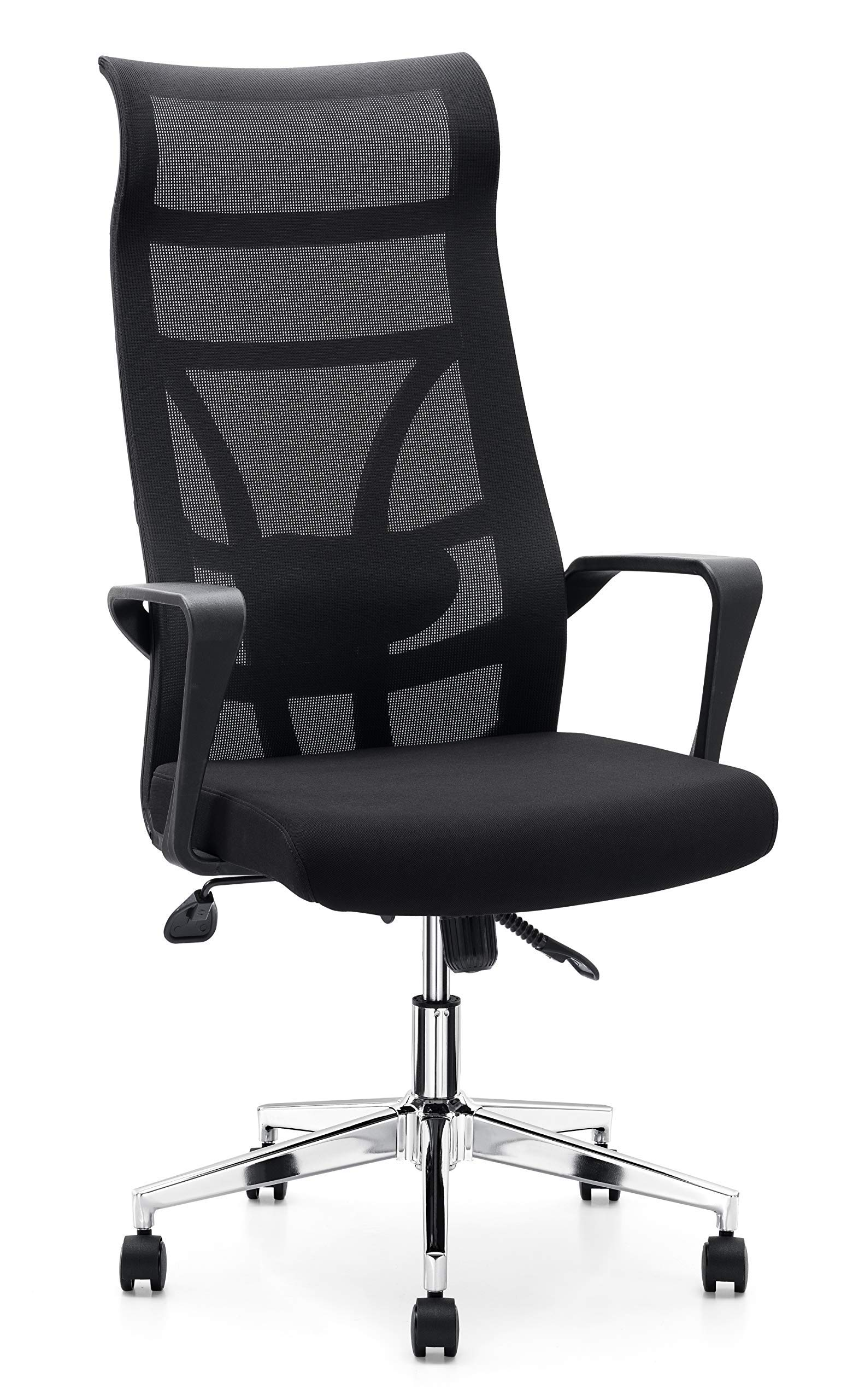 Allguest Executive Office High Back Elastic Mesh Chair - Black Premium Quality High-Back Office Chair - High-Density Foam Cover Chair (Renewed) by Allguest