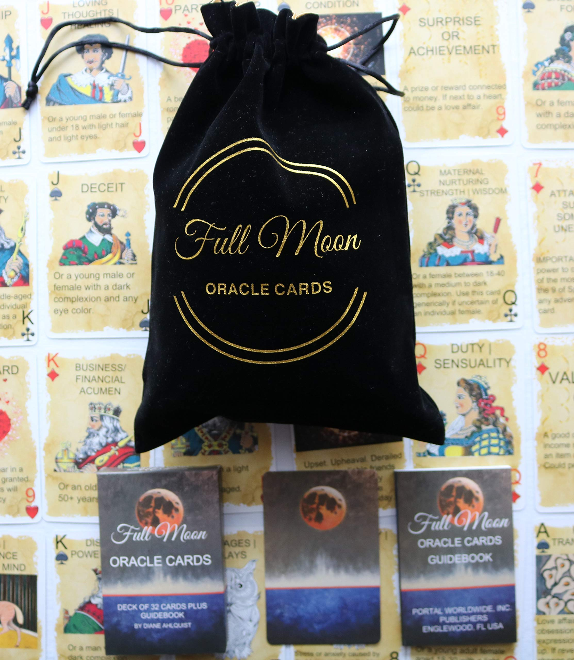 Full Moon Oracle Cards Pouch by Author of Moon Spells Diane Ahlquist (Image #2)