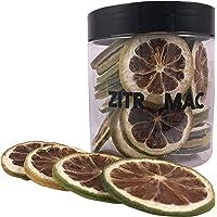 Limón verde deshidratado para cóctel. Fruta deshidratada sin