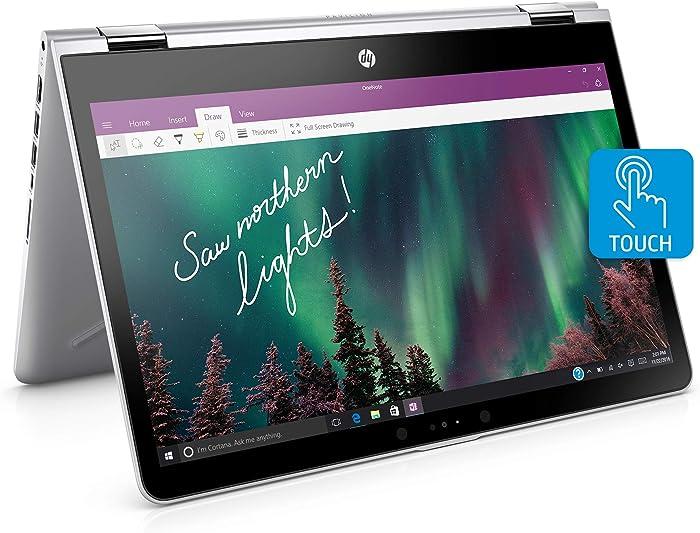 HP Pavilion x360 14-inch Convertible Laptop, Intel Core i5-8250U Processor, 8 GB RAM, 256 GB Solid-State Drive, Windows 10 Home (14-ba110nr, Silver)