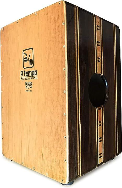 CAJON Dos Voces Cintillo ATempo. Flamenco Y Tradicional. Hecho en el Perú en Marquetería. Funda GRATIS!: Amazon.es: Instrumentos musicales