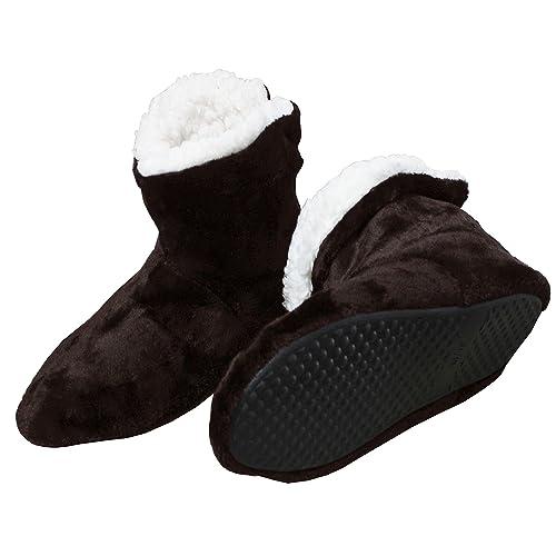 FERETI Botas de Casa Hombre Peluche Marrón Botines Felpa Borreguillo Pantuflas Forro Pelo Lavable Tobillo Acolchado Nórdico Altas: Amazon.es: Zapatos y ...