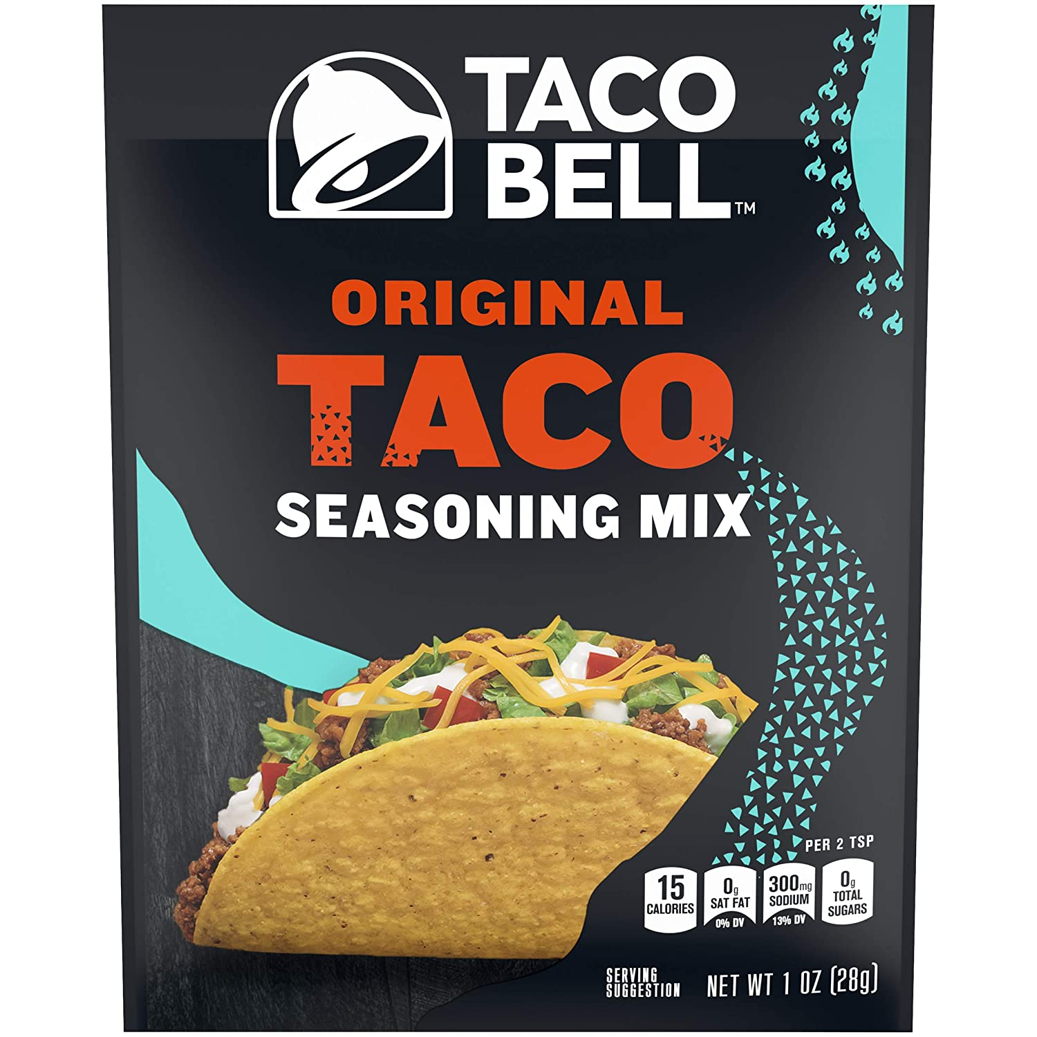 Amazon Com Taco Bell Seasoning Mixes 1 Oz Packets Pack Of 24 Mexican Seasoning Grocery Gourmet Food
