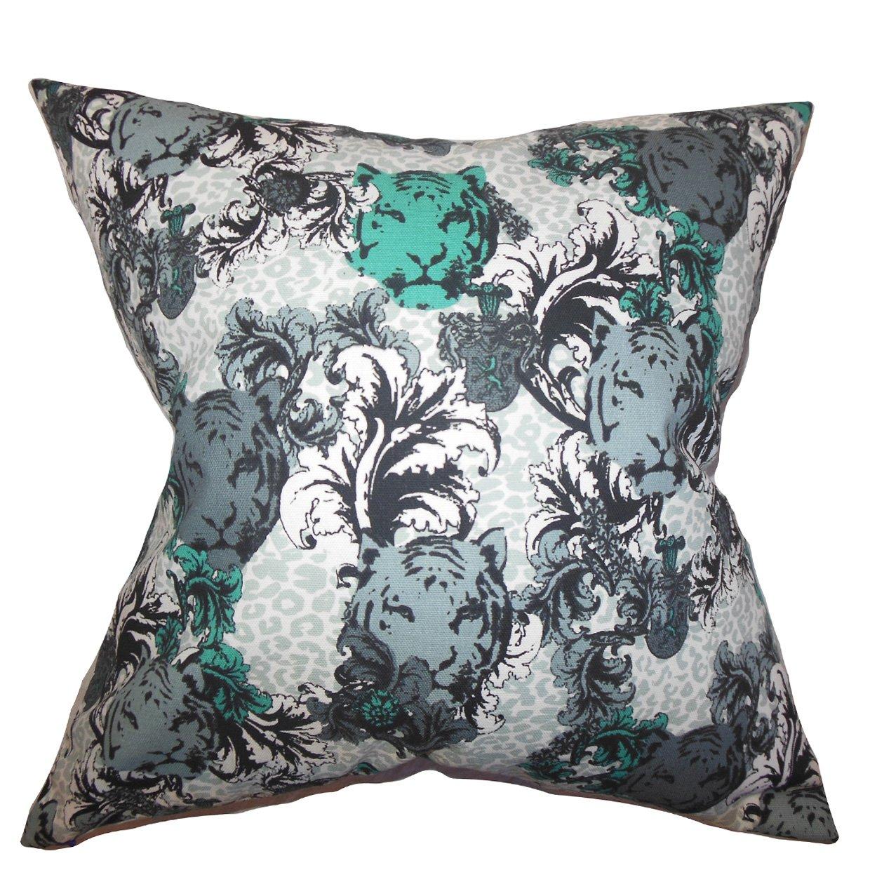Gray The Pillow Collection Eavan Floral Pillow