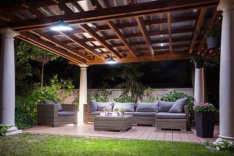 Acoala - Lámpara solar para cobertizo de techo (12 ledes, con ...