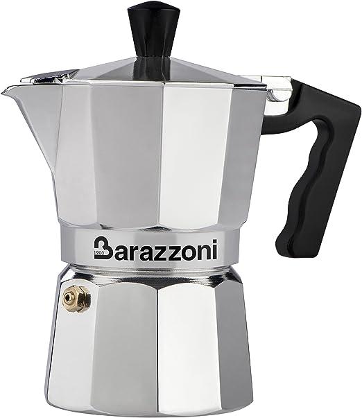 Barazzoni la cafetera colorata 6 Tazas, Aluminio, Gris, 10 x 16,9 x 19.6 cm: Amazon.es: Hogar
