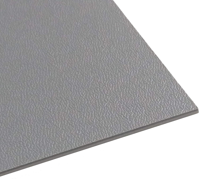 Kunststoffplatte ABS//ASA mittel genarbt 2mm Schwarz 300 x 200 mm