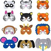 QIMEI-SHOP Máscaras de Animal 12 x Niños Eva