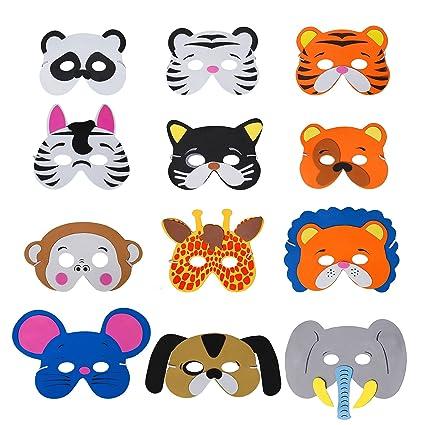 großer Rabatt große Auswahl an Designs feinste Auswahl QIMEI-SHOP Tiermasken Kinder Schaumstoff Masken mit ...