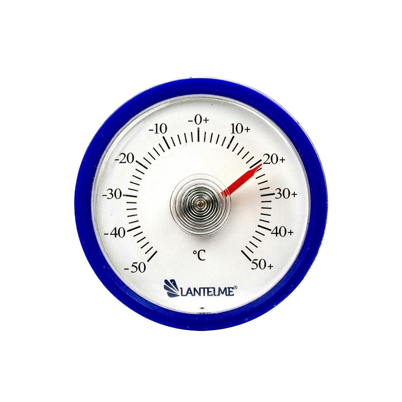 analogico Autoadesivo Interno termometro Lantelme 7716 Camion Colore: Blu Termometro per Auto per Auto