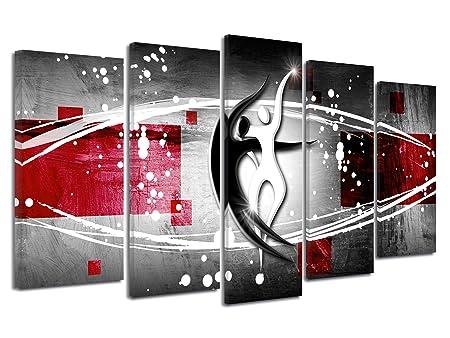 DECLINA Tableau Design Moderne Silhouette Danseurs ...
