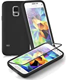 Cadorabo - Silicone TPU cover (Full Body - protection) for Samsung Galaxy S5 MINI – Etui Case Protection Bumper Skin - 360° Complete Protection in OXIDE-BLACK