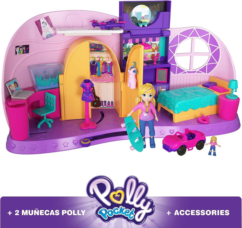 Polly Pocket Habitación Polly-Transformación, casa de muñecas (Mattel FRY98) , color/modelo surtido: Amazon.es: Juguetes y juegos