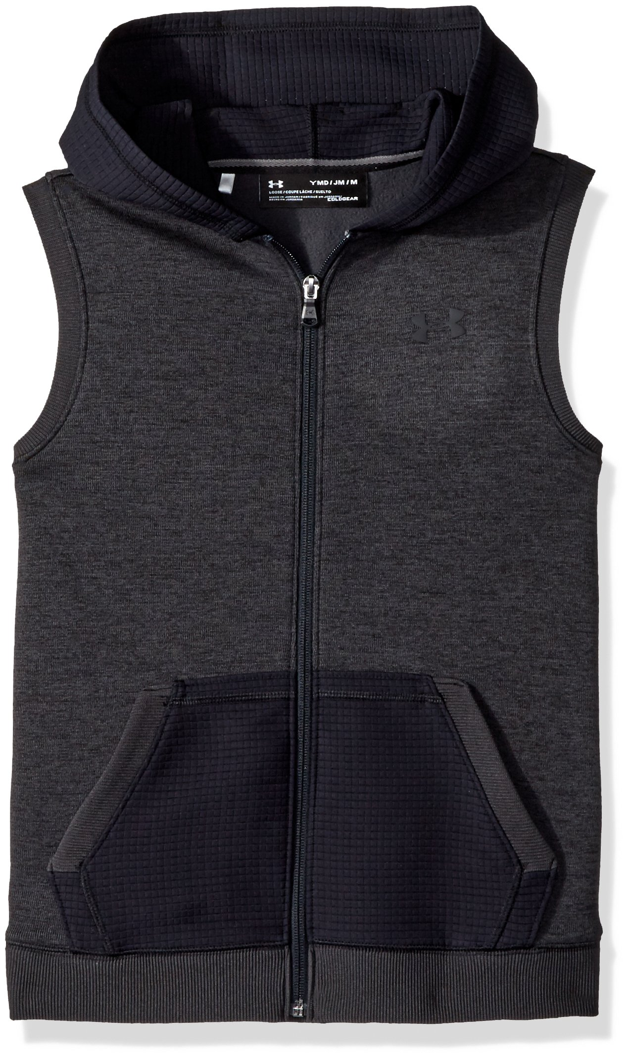 Under Armour Boys' Storm SF Hoodie Vest, Black (001)/Black, Youth Medium by Under Armour