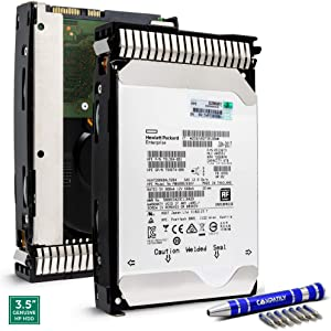 HP 793699-B21 6TB 7.2K SAS 12Gb/s 128MB 3.5-Inch Proliant HDD in G8 G9 Tray | HPE 793771-001 973699-S21 for DL360p DL380p Hard Drive Bundle with Compatily Screwdriver