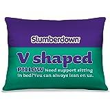Slumberdown V Shape Pillow, White