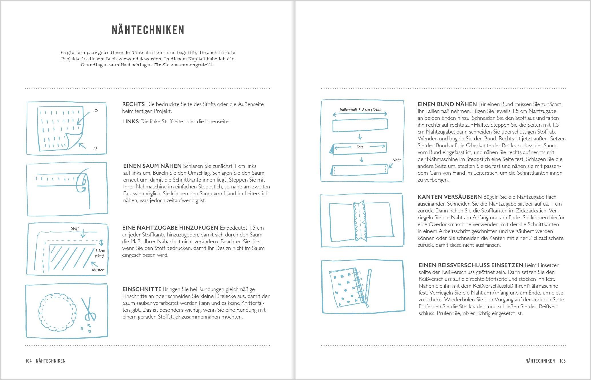 Stempel-Stoffdesign: Über 20 Anleitungen für handbedruckte ...