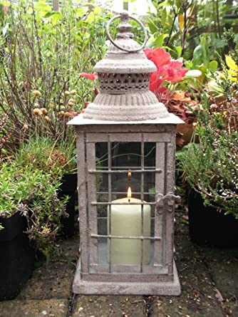 Lanterne Grandi Da Esterno.Antico Stile Vintage Grande Lanterna Portacandela In Metallo Da