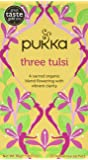 Pukka Herbs Organic Three Tulsi 20 Teabags (Pack of 4, Total 80 Teabags)