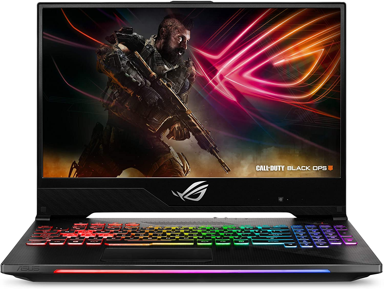 "ASUS ROG Strix SCAR II Slim Gaming Laptop GL504, 15.6"" 144Hz IPS Type, NVIDIA GeForce GTX 1070, Intel Core i7-8750H Processor, 16GB DDR4, 256GB PCIe SSD + 1TB SSHD, Windows 10 Home - GL504GS-DS74"