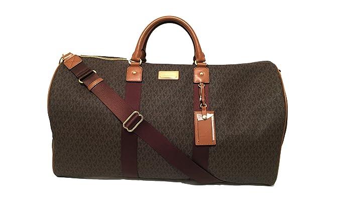 2a4e8ad7d67cef Amazon.com: Michael Kors Michael Kors Leather Travel Logo Duffle Large Bag  Printed Duffel Luggage: Prestige World Fashion