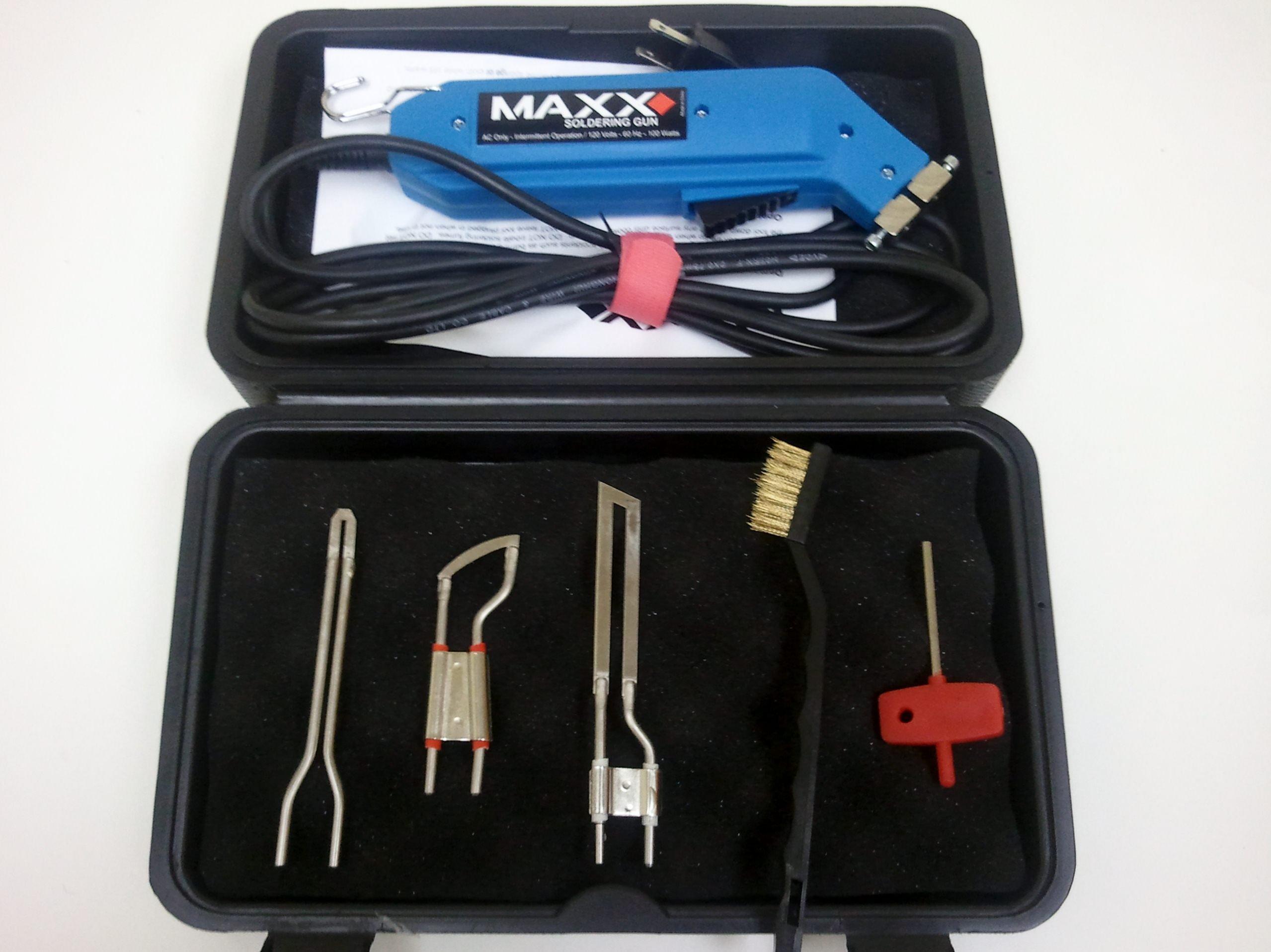 Maxx 3 in 1 Hot Knife Kit, Soldering Tip, 2 1/2'' Foam Cutter & Fabric Cutter Blades
