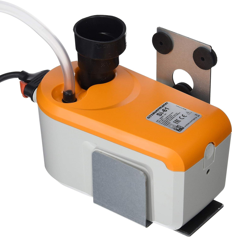 Sauermann - Bomba de desagüe condensada de pistón con depósito Integrado, ABS, Blanco/Naranja, hasta 50 kW