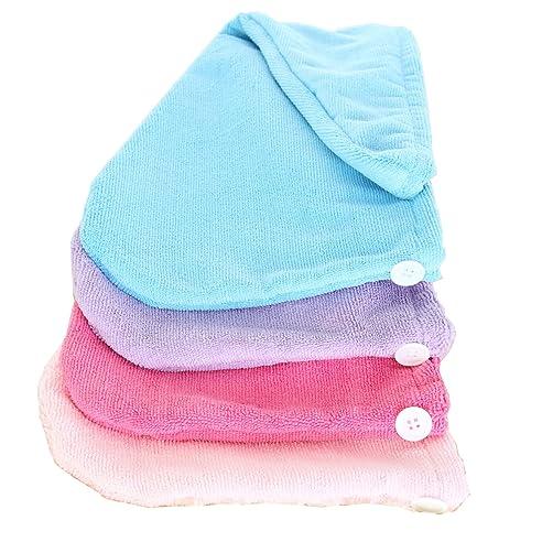 yinglite mikrofaser haar turban 4 pcs 4 colour handtuch kopftuch