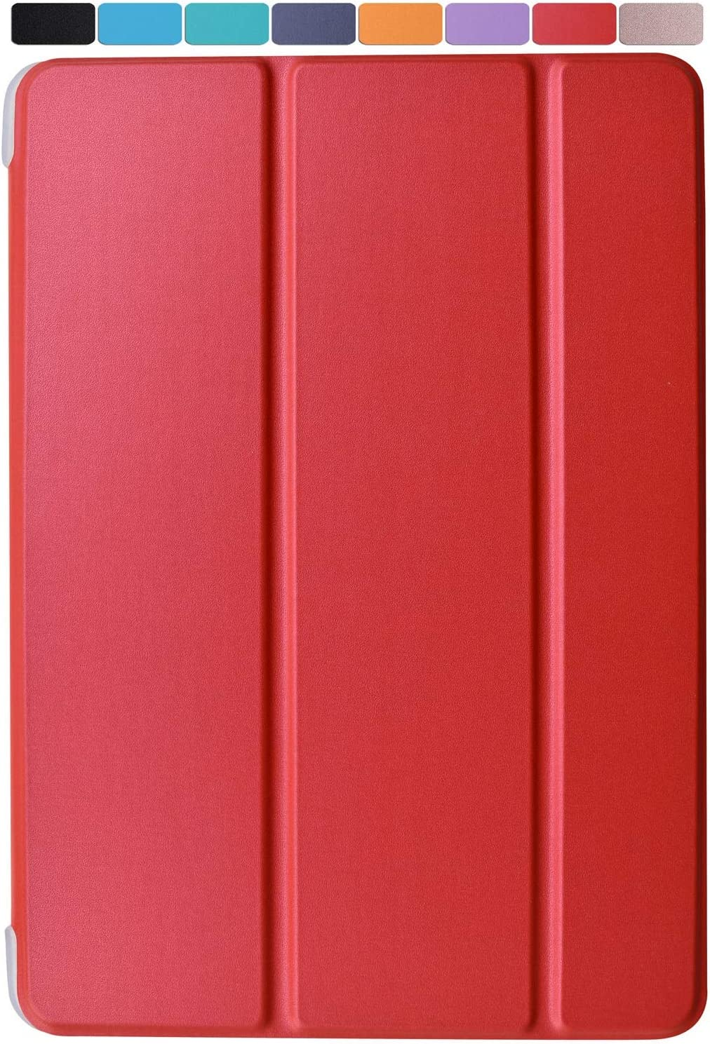 """DuraSafe Cases for iPad PRO/Air - 10.5"""" MQDX2LL/A MQDT2LL/A MQDW2LL/A MUUL2LL/A MUUK2LL/A MUUJ2LL/A MQDY2LL/A Ultra Slim Energy Saving Case with Adjustable Stand Feature and Sleek Design - Red"""