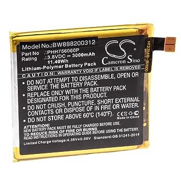 vhbw Litio polímero batería 3000mAh (3.8V) para móvil ...