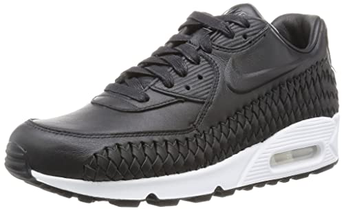 Nike Men's Air Max 90 Woven Fitness Shoes, Black (Black