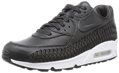 new concept c38c3 c8956 Nike Men s Air Max 90 Woven Fitness Shoes, Black (Black-White),
