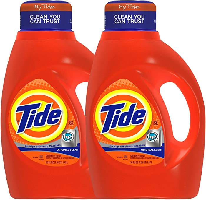 Tide HE Liquid Detergent - 50 oz - Original - 2 pk