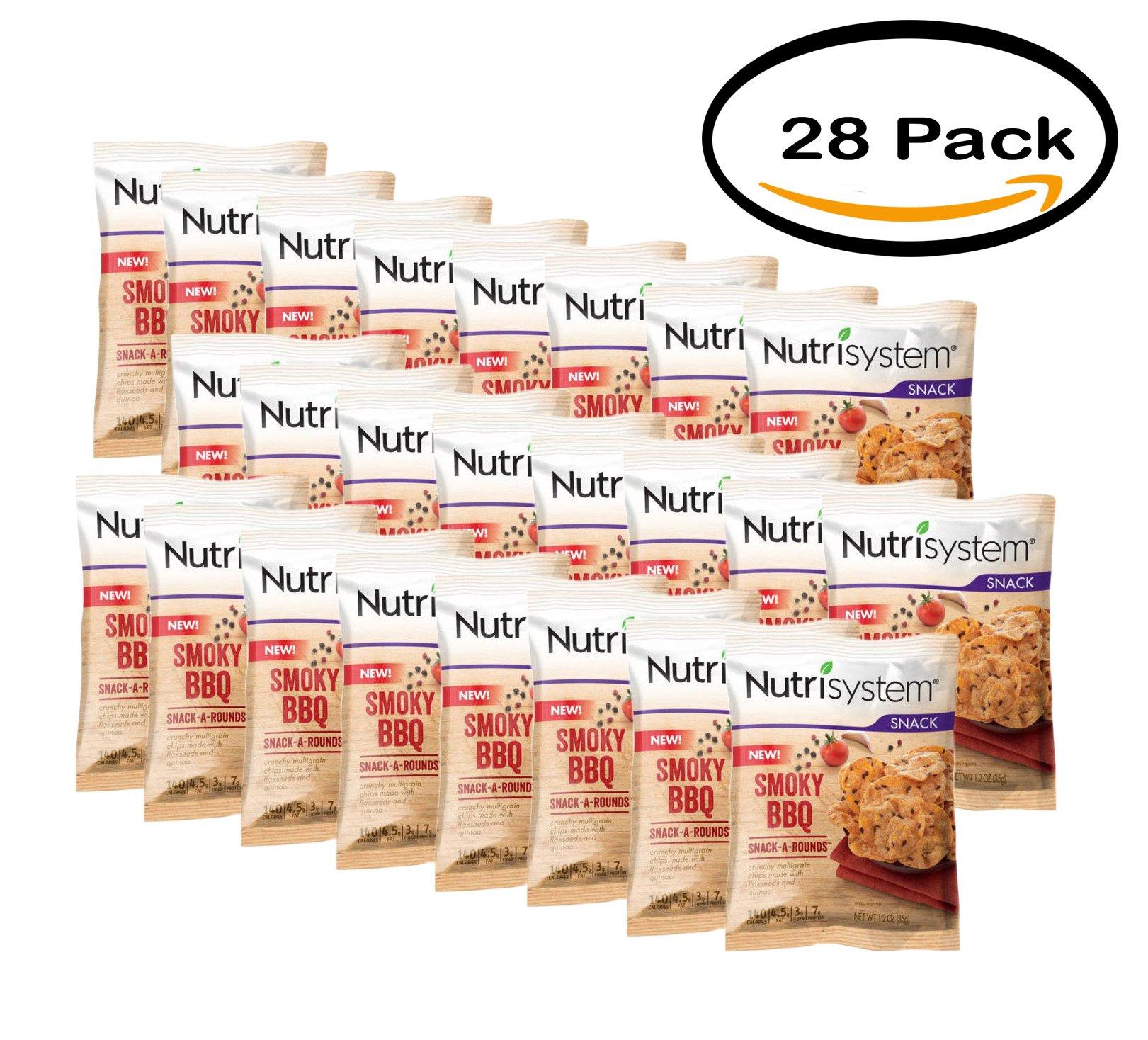 PACK OF 28 - Nutrisystem Smoky BBQ Snack-a-Rounds, 1.2 oz by Nutrisystem
