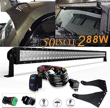 """Mounting Bracket 2006-2010 Hummer H3 Black 50/"""" Straight LED Light Bar Combo"""