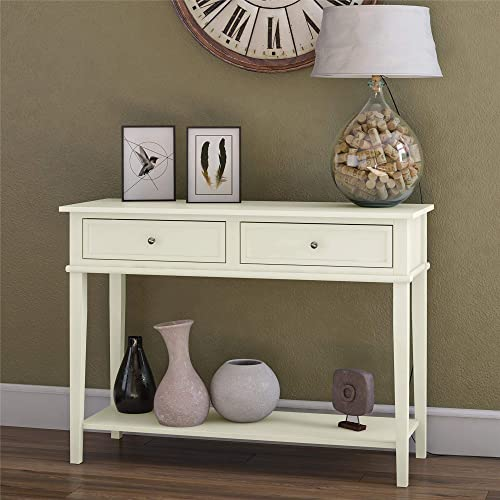 Ameriwood Home Franklin Console Table, Soft White