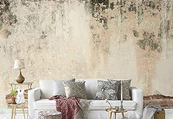 Vlies Fototapete Fotomural Wandbild Tapete Alte Mauer Grunge Beton Thema Texturen Und