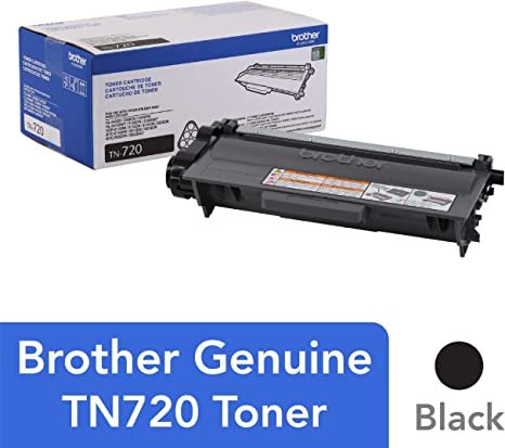 Brother Genuine Standard Yield Toner Cartridge, TN720, Replacement Black Toner, Page Yield Up To 3,000 Pages, Amazon Dash Replenishment Cartridge