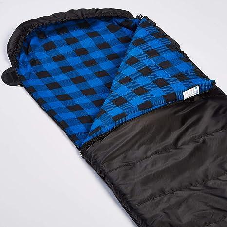 Skandika Dundee - saco de dormir rectangular - 220x80cm - acoplable -  Forro  franela algodón (negro derecha)  Amazon.es  Deportes y aire libre 82c8f909562