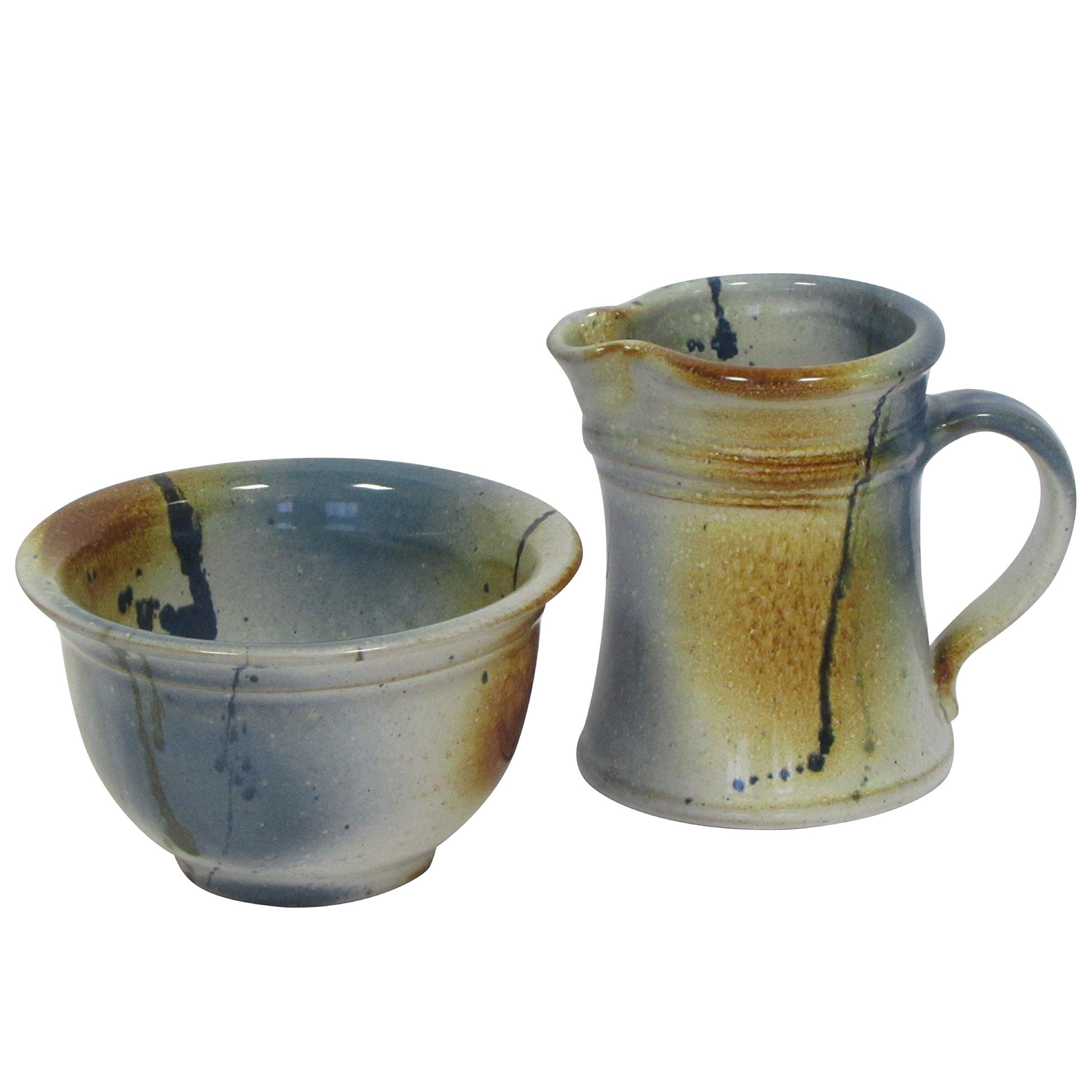 Handmade Sugar and Creamer Set by Kiltrea Bridge Pottery Ireland - 100% Lead Free Glazed Clay Irish Pottery Set