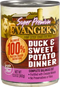 Evanger'S 776135 12-Pack Gold Sp Grain Free Duck And Sweet Potato Dinner For Dogs, 13-Ounce