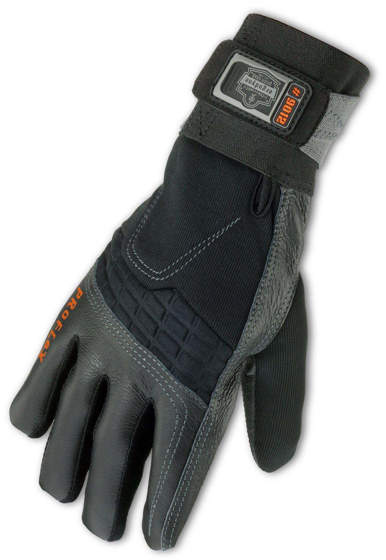 Ergodyne ProFlex 9012 Certified Anti-Vibration Work Glove with Wrist Support, Large, Black