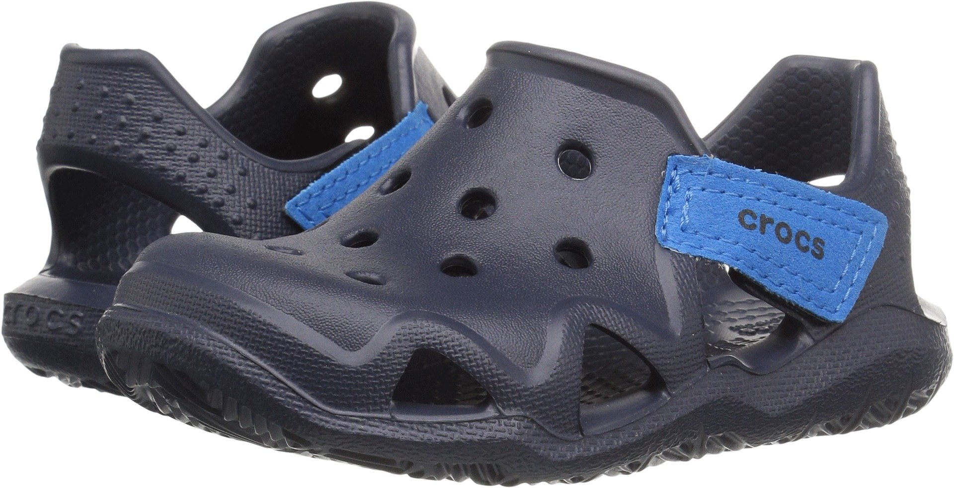 Crocs Kids' Swiftwater Wave K Slip-On, Navy, 11 M US Little Kid