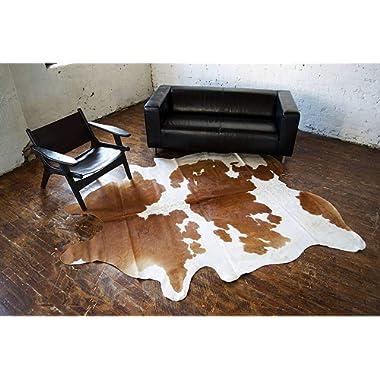 A-Star Western Brown Cowhide Rug - Best Cow Hides Area Rug (5 x 4)