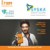 Syska Gadget Secure Complete Protection Plan with Theft Coverage for Smartphones Between Rs. 10001 to Rs. 15000 with Syska Total Security