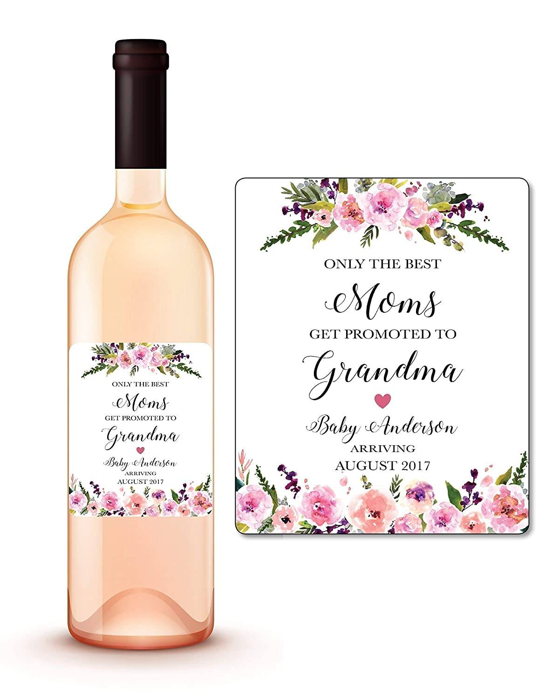 Pregnancy Announcement Reveal Pregnancy Sticker Custom Wine Bottle Label Pregnant As A Mother Wine Label