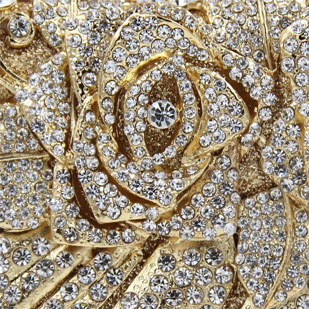Liuxiaomiao, Pochette da Donna, Pochette con Strass, Pochette da Sera, Pochette per Cosmetici, da Sposa, Matrimoni, cene Champagne Gold