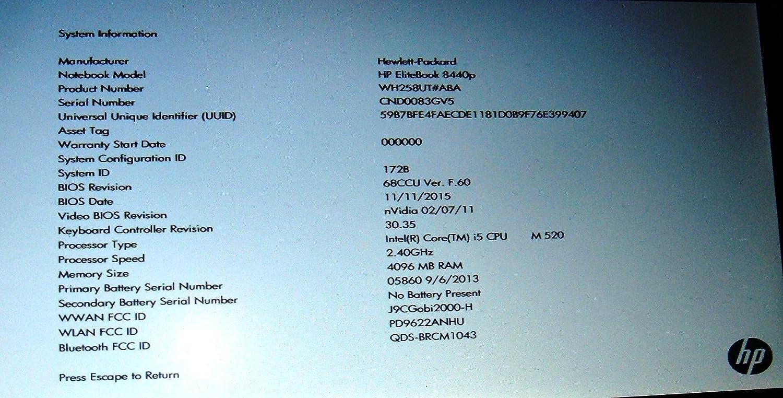 Amazon.com: HP EliteBook 8440p Intel Core i5 520M 2.4GHz 2GB 250GB DVDRW 14