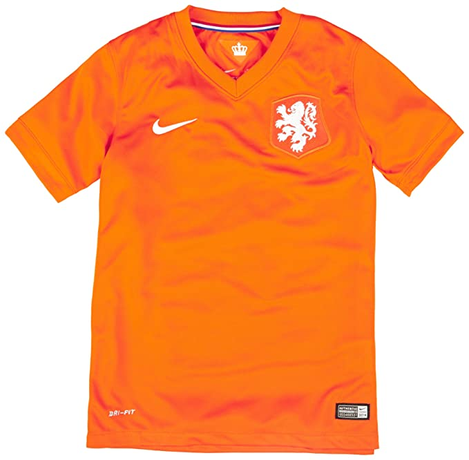 2e5a149859c Nike Netherlands (Holland) 2014 Stadium Junior Soccer Jersey (YXL) Orange